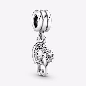 PANDORA Interlocking Hearts Dangle Charm Authentic